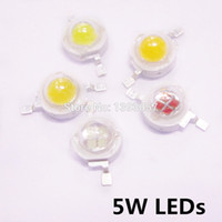Wholesale high power led chip 5w - Wholesale- 5W 700mA High Power LED Chip, DC6-7V 45mil*45mil Epistar Chip Copper Stent White Warm Red Blue Green Pink Excellent Light Source