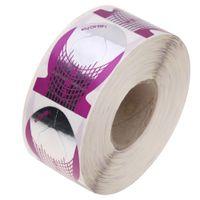 ingrosso adesivi per unghie di pesce-500pcs Strumenti Forma Viola forma di pesce Nail Guida estensione Modulo di arte del chiodo capovolge Adesivi Maincure Attrezzo del salone di chiodi a UV