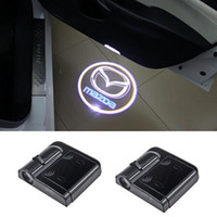 Wholesale Door Logo Light Mazda - LED Car door logo projector lights For Mazda 3 spoilers 6 atenza cx-5 2 mx5 626 cx7 rx8 demio cx3 mx3 axela 323f