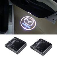 luzes led mazda cx venda por atacado-Led porta do logotipo do projetor luzes para Mazda 3 spoilers 6 atenza cx-5 2 mx5 626 cx7 rx8 demio cx3 axx mx3 323f
