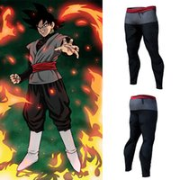 Dragon Ball Pantaloni Compression Pantaloni Fitness Pantalone veloce asciutto Tight 3D Dragon Ball Z Anime Uomo Vegeta Goku Pant