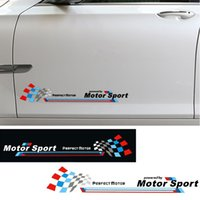 Wholesale Wholesale Vinyl Skirts - Powered by Motor Sport Door Sticker Racing Side Skirt Decal Stickers for BMW 3 5 7 Series X3 X5 X6 E36 E39 F30