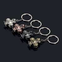 Wholesale Plane Keyrings - Fashion Accessories 3D Propeller Plane Metal Alloy Key Chain Keyring Car Keychains Waist Key Ring Birthday Gift Business Gift