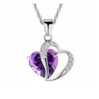 coeur pendentif coréen achat en gros de-Collier de femmes coréennes pendentif vintage exagéré amour coeur collier perles de pierre collier court collier de collier