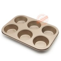 Wholesale Wholesale Bread Loaf Pans - Wholesale- FDA-grade non-stick coating Pan Muffin Cupcake Bake Cake Mould Mold Bakeware 6 Cups Dishwasher Safe Versatile SturdyBaking Oven
