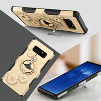 Wholesale Metal Gear Cases - Mechanical Gear TPU+PC hybrid Case Sports Stand Holder Cover Armor Cases For iPhone X 8 7 For Samsung Galaxy Note 8 S8 A