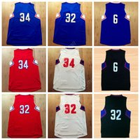 Wholesale Pierce Blue - Top Quality 32 Blake Griffin Basketball Jerseys 2017 Man 6 DeAndre 34 Paul Pierce Jersey Sport Red Blue White Black with player name