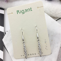 Wholesale Silver Earings Free Shipping - Top quality Luxury Fashion Diamonds Long Earings Stainless Steel Jewelry Charm Grace 18KGP Party Dress Beautiful free shipping