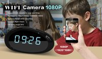 H.264 Full HD 1080P Night Vision Motion Detection Wireless IP Mini DV Telecamera nascosta WiFi Alarm Clock Sicurezza domestica Camma Nanny DVR