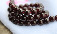 Wholesale 4mm mm Natural gem Semi Precious Stone Red Garnet Round Loose Beads DIY Bracelet Fashion Charm Jewelry making