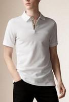 ingrosso pullover commercio-Trade London Brit Classic Polo Shirt Uomo Cotton Polos England Polo Shirts Maglie sportive Golf Tennis Tees Top Camisa