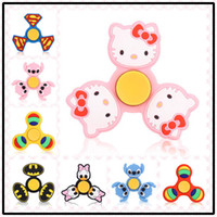 Wholesale Duck Mouth - 15 Styles Silica Gel Cartoon Hello Kitty Donald Duck Mouth Monkey Hand Spinner Anti Stress For Adult Children Toys Gift