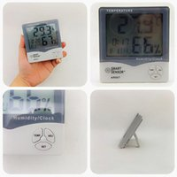 Wholesale Smart Sensor Thermometer - Wholesale-Smart sensor AR807 LCD Digital Hygrometer Thermometer Wet and Dry Thermometer Meter With Calendar & Clock Alarm