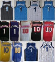 Wholesale White Basketball Shorts Yellow - High 1 Penny Hardaway Jersey Throwback Shirt Fashion Men Retro Penny Hardaway Uniforms 10 Home Blue Red White Black Yellow Purple