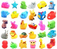 Wholesale Doll Silicone Child - Baby Bath Water Toy Cute cartoon toy baby toys animal dolls sound doll toy educational toys Children Swiming Beach animal Gifts