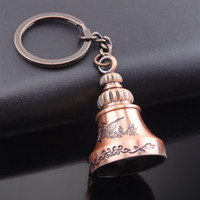 Wholesale Wholesale Antique Bells - classic bell top hot metal key chain,key holder key stand holiday gift promotion