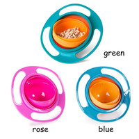 Wholesale Baby Spill Rotating Bowl - 3 Colors Practical Design Children Kid Baby Toy Universal 360 Rotate Spill-Proof Bowl Dishes with PP Bag 2110108