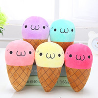 Wholesale Ice Varieties - Wholesale- 2016 birthday gift one super hot new 12cm variety of colors cute ice cream plush toy as a girl's Christmas presents