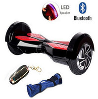 Wholesale Electric Scooter Ce - NO TAX Hoverboard 8inch Wheel Smart Balance Electric BAG BLUETOOTH LED light Scooter Motorized Skateboard Classic style COOL