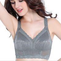 plus größe e bh großhandel-New Wire Free Full Coverage Komfort Softcup Minimizer Bh für Frauen Plus Size Bh hohe qualität B C D E F G