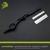 "Wholesale Tools Hair Cut Sale - Styling Tools 7"" sharp&thinning razor blade cut hair razors hair thinning razor hairdressing straight barber scissors sale"