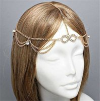 Wholesale Grecian Wholesalers - Diamante Crystal Lucky Matha Patti Tikka Head Chain Bollywood Jewelry Grecian Hijab Jewellery Bridal Wedding MY-175