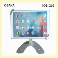 Wholesale tablet security display stand - Wholesale- 10 to 13 inch tablet table security kiosk stand for Surface Pro 12 inch display mounting on desktop lock holder universal