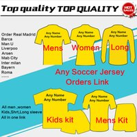 Wholesale blue gold boys for sale - Soccer Jersey Football Shirts kids woman tracksuits sweater men Soccer Jersey Customers Order Link jacket
