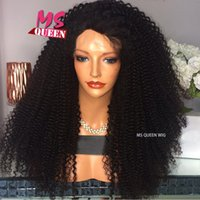 Wholesale Cute Red Wigs - Beauty High Quality 180density Afro Kinky Curly Lace Front Wig Long Black Synthetic Lace Front Wig Cute Kinky Curly Wig for Black Women