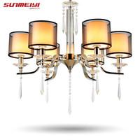 Wholesale Lustres Pendentes Led - Modern Crystal chandelier lustres de cristal light lustres e pendentes lustres de sala teto luster lamparas colgantes