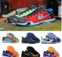 Wholesale Eva Hats - 2018 New hat the kobe 10 Elite Weaving Retro Mens Basketball Shoes Sneakers Best Quality KB X Dark Atomic Sneakers Training Shoes Size 7-13