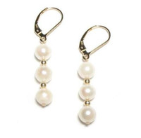 Wholesale South Sea Australian Earrings - HOT A PAIR AUSTRALIAN SOUTH SEA WHITE PEARL EARRING 14K GOLD