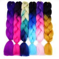 Wholesale Braiding Braid Hairstyles - Wonderful Life Hair Ombre Kanekalon Jumbo Synthetic Braiding Hair Bundles Crochet Blonde Hair Extensions Jumbo Braids Hairstyles