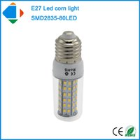 Wholesale Corn Cover 8w - 4x 8 watt e27 clear plastic cover bulb lamp smd 2835 chip 80leds pure white 110v 220v 8w lampe led energy saving lamp