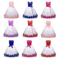 Wholesale wholesale special occasion dresses - Baby Girls Flowers Toddler Christening Gown Kids Special Occasion Wear Infant 1-10 Year Birthday Dress Clothing
