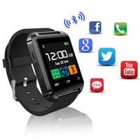 Wholesale German Outdoor Wear - Smartwatch Bluetooth Smart Watch U80 for iPhone IOS Android Phone Wear Clock Wearable Device Smartwach PK U8 GT08 DZ09 Watches