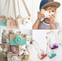 Wholesale Wooden Mini Camera Toys Cute Neck Hanging Camera Photography Prop Children Kids Room Hanging Decor OOA2359