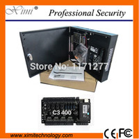 Wholesale access boards - Wholesale- Free SDK & sofeware C3-400 for access controller control 4 doorsTCP IP with power protect box door acceee control board