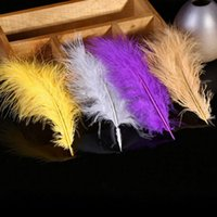 Wholesale Feather Hair Dye - 2017 new multi-color dyed Turkey feathers hair accessories wedding party decoration clothing jewelry supplies free shipping