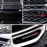 Wholesale car grill emblems - 3D Car styling CAR logo Car Front Grille Grill Emblem badge fit for dodge ram rt red