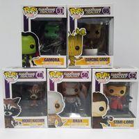 Wholesale Toy Garage Kits - Zorn Store-Funko POP Guardians of the Galaxy Dryad Groot Cartoon Garage Kits Model Q version Rocket raccoon Star lord Drax Gamora dolls Toys