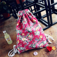 Wholesale- Drawstring Coréenne Sacs Femme Candy Color Backpack Étoiles Universe Space School Bag Book Sac à dos pour ordinateur portable pour les filles adolescentes