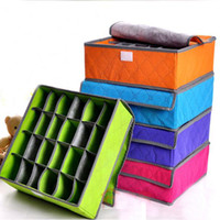 Wholesale Tie Sock Drawer Organizers - Free Shipping Drawer Organizer 24 Cell Sock Bra Leggings Ties Underwear Container Box