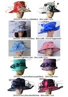 Wholesale Church Hats For Ladies Wholesale - NEW Sinamay hat church hat ladies hat sell in mix style for races,party and wedding,FREE SHIPPING BY EMS.