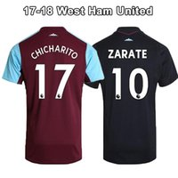 2018 Nuova maglia <b>West Ham United</b> CARROLL 17 18 Premier League NOLAN West Ham JARVIS CARROLL NOBLE magliette da calcio
