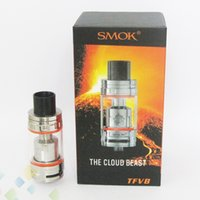 Wholesale Metal Coil Head - Authentic SMOK TFV8 Cloud Beast Tank 6ml with V8 T8 Octuple Coil V8-Q4 Quadruple Coils Head smoktech TFV8 Tank DHL Free