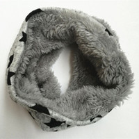 Wholesale Kids Infinity Scarves Wholesale - Wholesale- New autumn Winter Chirldren infinity scarf five stars Baby scarf Boys and girls coton Kids Dot print ring children loop Scarves