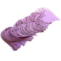Wholesale Wholesale Laser Cut Animals - Wholesale-Wedding Table Decoration Place Cards Wedding Party Decoration Laser Cut Heart Floral Wine Glass Place Cards