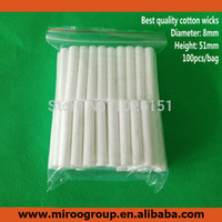 Wholesale High Quality Replacement Blank Inhaler Wicks Essential Oil Cotton Wicks for Plastic Nasal Inhalers