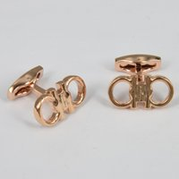 Wholesale Shape M - F-R-G-M High Quality Best Design AAA+ 4 Models Pure Colors Horseshoe Shape Famous Brand Cufflinks